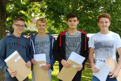 Boys with their results